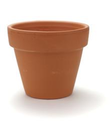 images d'un pot de fleurs en terre cuite neuf sur fond blanc