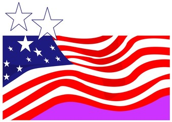 Illustration of symbolic American flag