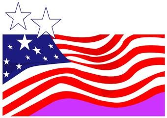 Illustration of symbolic American flag