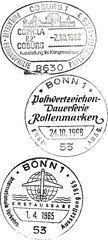 three special postmarks from germany