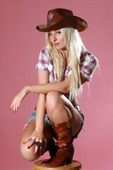 Pretty girl with cowboy hat