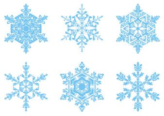 The present snowflakes