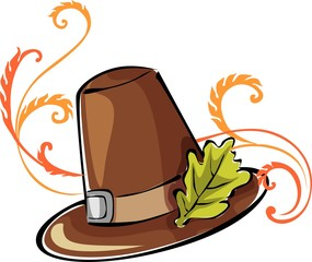 Illustration of a brown colour leather cowboy hat
