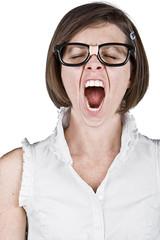 Geeky Female Yawning