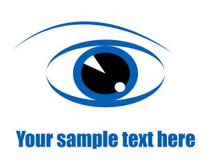 Striking eye vector design
