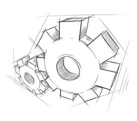 Hand-drawn gears