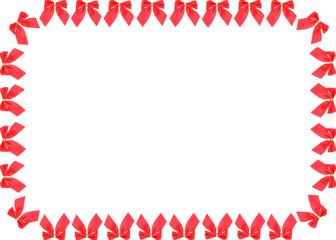 red bow frame