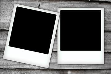 Two polaroid frames