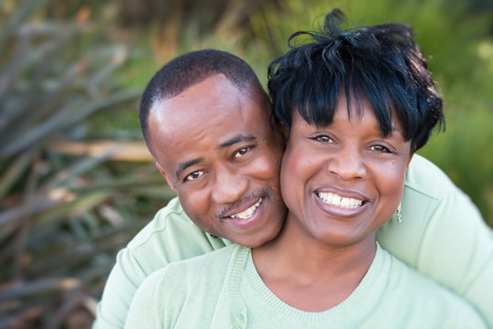 Attractive Happy African American Couple in the Park