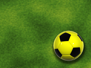 High resolution 3d soccer ball isolated on grass