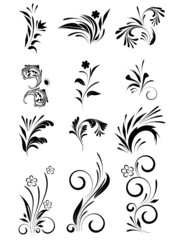 set with floral element