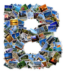 All over the world photo font B with 210 original pictures
