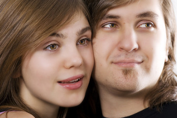Close-up of attractive couple
