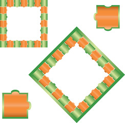 Jigsaw puzzle - green and orange
