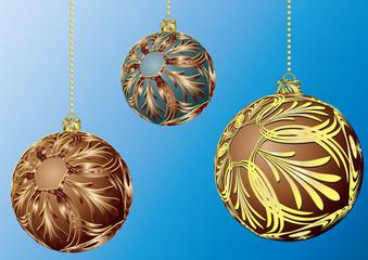 Balls for a decoration. Christmas. Vector.