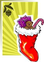 Illustration of Santa's socks