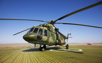 The russian military helicopter