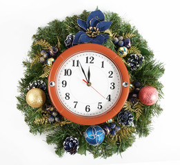 christmas decoration and watch