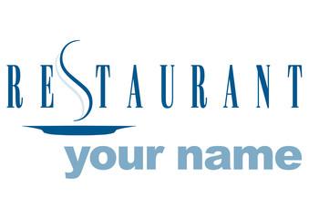 restaurante logotipo Wall mural