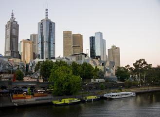Melbourne yarra river afternoon