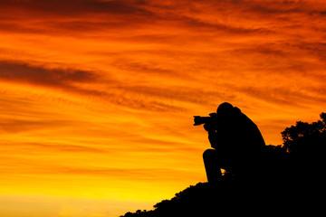 photographe à l'aube