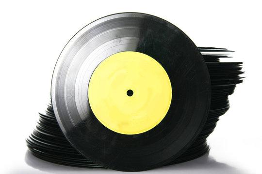 stack of vinyl record