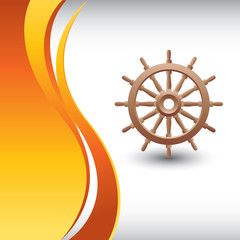 ship wheel vertical orange wave