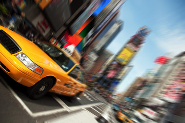 Tuinposter New York TAXI New York City Taxi, Times Square