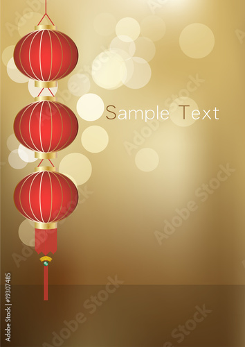 Chinese Lantern Background Stock Image And Royalty Free Vector