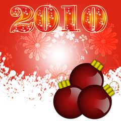 Beautiful glossy red Christmas decoration