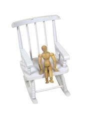 Child on rocking chair