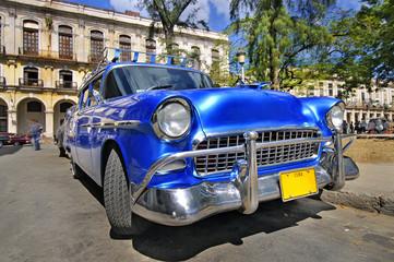 Classic american car in the street of havana