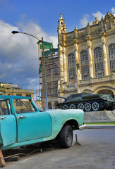 Havana car and revolution palace