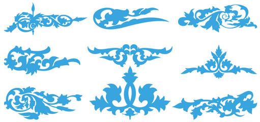 blue flower silhouette pattern