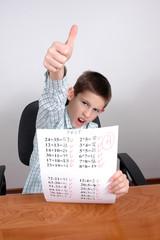 boy with A grade