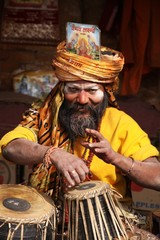 baba sadhu musicien katmandou
