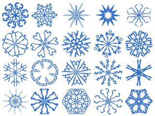 Snowflakes, vector snowflakes on a white background