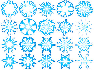 Snowflakes, vector snowflakes on a white background