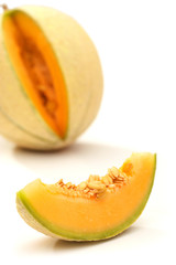 sliced sugar melon