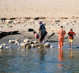 Washing in the River Nile