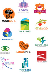 collection of many different icons and logos