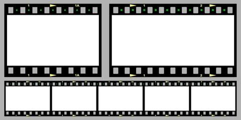 Filmstreifen in verschiedenen Formaten