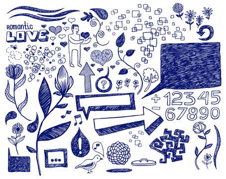 Romantic doodles
