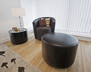 armchair with side table