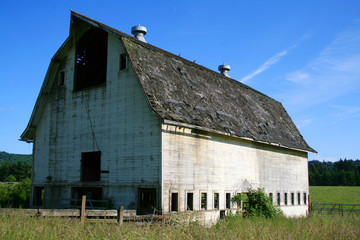An old barn on a farm.