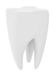 Tooth isolated on white