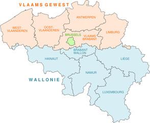 Belgien - Karte der Provinzen