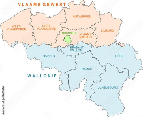 Belgien Karte Umriss.Belgien Karte Der Provinzen Stock Image And Royalty Free Vector