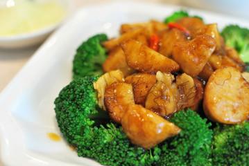 Chinese style mushrooms and cauliflower