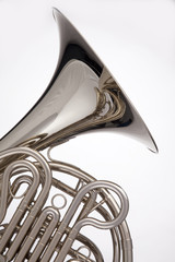 French Horn Silver Isolated On White
